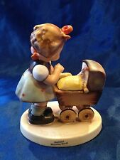 Goebel M I Hummel ~ Morning Stroll #375 3/0 baby girl doll carriage pram 1st Iss