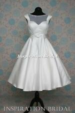 UK 1386 short Tea Length knee wedding dress new sizes 8 10 12 14 16 18 20 22 24