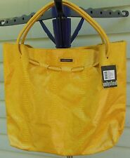 UNLISTED Handbag Purse Huge Shopper PYTHON Mustard Yellow NWT $78 tote