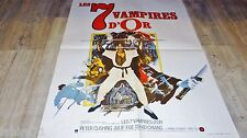 LES 7 VAMPIRES D'OR ! peter cushing affiche cinema hammer film shaw brothers