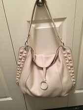 BCBG MAX AZRIA WHITE LEATHER HOBO PURSE