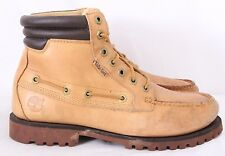 Timberland 38576 9140 Oakwell Wheat Distressed 7-Eye Boat Boots Men's US 8.5M
