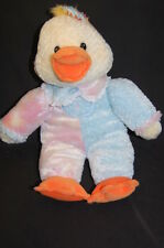 "Baby Pastel Chick Duck yELLOW pINK bLUE 16"" PLUSH  STUFFED ANIMAL LOVEY Fine TOY"