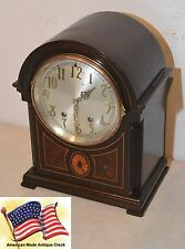 SETH THOMAS LOCARNO - 1928 FINE ANTIQUE CABINET CLOCK IN MAHOGANY  WITH INLAYS