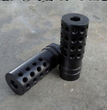 "1/2-28 Muzzle Brake (AL-3) With Directional Ports (2.25"" Long) .22, .17"