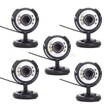 Lot 5 HD 12.0MP 6 LED USB Webcam Camera with Mic Night Vision for PC Laptops US