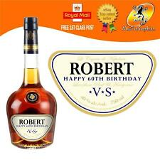 PERSONALISED COGNAC BRANDY BOTTLE LABEL BIRTHDAY ALL OCCASIONS GIFT