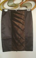 bebe 2b zip up back black and nude pencil skirt size 2