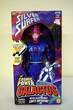 "COSMIC POWER GALACTUS Silver Surfer Figure Electronic 14"" MISB COMPLETE 1997"