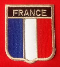 FRANCE FRENCH NATIONAL COUNTRY FLAG BADGE IRON SEW ON PATCH CREST SHIELD