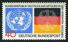 Germany 1126, MI 781, MNH. Germany's admission to the UN. Flags, 1973