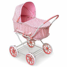 Pink Rosebud 3-in-1 Doll Pram/ Carrier/ Stroller
