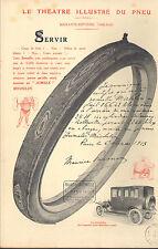 63 CLERMONT-FERRAND MICHELIN BIBENDUM LE THEATRE ILLUSTRE DU PNEU PUBLICITE 1913