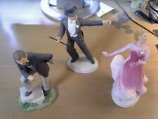 Avon Images of Hollwood Figureines Set of Three Gable/Astaire/Rogers