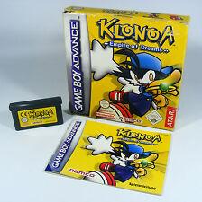 KLONOA EMPIRE OF DREAMS für Nintendo GBA GameBoy Advance Modul + Anleitung + OVP