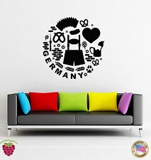 Wall Stickers Vinyl Decal I Love Germany Hearts Europe Travel  (z1918)