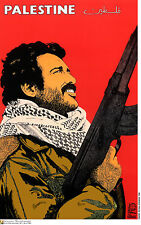 Political Cuban poster.Palestine FIGHTER.Muslim.Arab 33.Socialism.World History