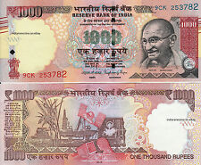 INDIA 2016 1000 RS Tactile Mark Novel Number No Inset Paper Money Note UNC NEW