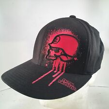 METAL MULISHA Authentic Black Red Dripping Skull L/XL Flexfit Flat Brim Hat