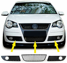 Black finish front bumper lower grills fog light grills for VW Polo 9N3 05-09