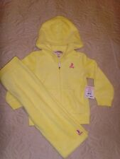 NEW JUICY COUTURE INFANT/BABY GIRL YELLOW TERRY TRACKSUIT JOG SET 12 M