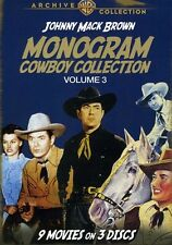 Monogram Cowboy Collection, Vol. 3: Johnny Mack Brown [3 (2012, DVD NIEUW) DVD-R