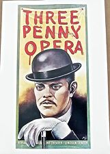 Paul Davis Poster Reprint of Three Penny Opera Poster  16X11  Unsigned pp