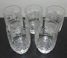 """Iittala Finland """"Kuusi"""" Pattern Beverage Glasses (Set of 5) - Jorma Vennola"""