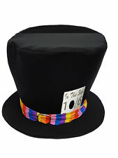 CHILDS Mad Hatter Top Hat Libro Semana Fancy Dress 8-14 Alice In Wonderland