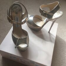 JIMMY CHOO SHOES - CHAMPAGNE JIMM CHOO HIGH HEELS SHOES 4UK 37 £480+