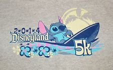 Disneyland 2014 5k Grey Stitch Surfing Race T-shirt Size Large (14-16) **READ**