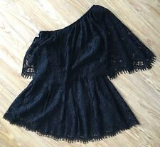 Alexis BLACK Maji One-Shoulder Lace Dress! Size SMALL! SUPER HOT & SEXY ITEM