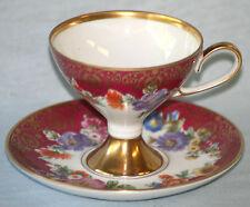 STUNNING VINTAGE EDELSTEIN BAVARIA PORCELEIN TEA CUP & SAUCER - 21849/144