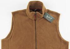Men's WOOLRICH Copper / Honey Brown Fleece Vest Medium M NWT NEW Nice!!