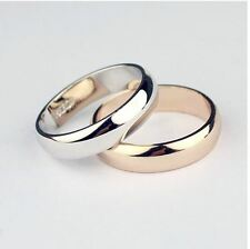 fake wedding band 18k rose gold or platinum plated alloy anti-allergy  ring