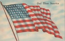 POSTCARD MILITARY WWII  Patriotic God Bless America