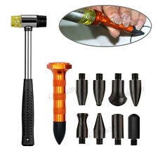 PDR Tools Tap Down Dent Ding Hammer Paintless Repair Kit knock down pen w/9heads