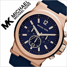 Mens Michael Kors Blue Dial Dylan Chronograph Watch MK8295 100% Genuine