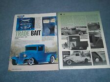 """1934 Ford Pickup Truck Street Rod Article """"Trade Bait"""""""