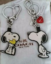 NWT COACH SNOOPY Red Heart  Key Chain Ring Charm NWT