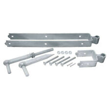 "12"" GALVANISED DOUBLE STRAP FIELD FARM GATE HINGE SET agricultural kit"