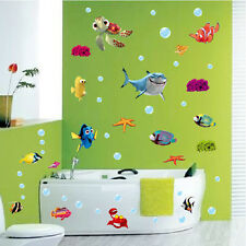 DIY Ocean Sea Fish Vinyl Art Removable Wall Sticker Home Mural Bath Room Decor