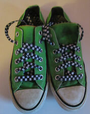 VTG Unisex Chuck Taylor CONVERSE Green/Check Laces Canvas Lo Trainer/Shoe Size 5