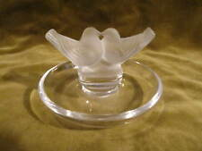 "Vintage french crystal ashtray ""2 doves 2 colombes"" Lalique france"