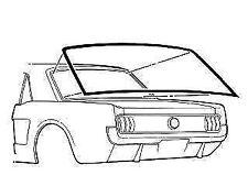 64-68 Mustang Coupe Rear Window Seal Gasket Rear Glass