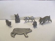 Vintage Pewter  Pigs Lot of 6, Seagull  Rawcliffe, Little Gallery, Spoontiques