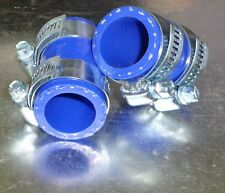 Yamaha Banshee rubber exhaust pipe clamps all years fmf,dg, Factory (Blue)