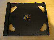 Case: Double CD Tray Inserts Right Hand Hinged  - 2 For 2 Discs Each Black