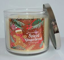 BATH & BODY WORKS SPICED GINGERBREAD SCENTED CANDLE 3 WICK 14.5 OZ LARGE COOKIE