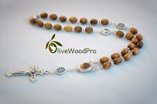ANGLICAN BETHLEHEM TREE OLIVE WOOD BEADS CHRISTIAN PRAYER HANDMADE ROSARY CROSS